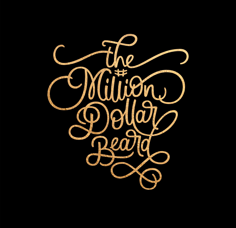 Logotype for The Million Dollar Beard